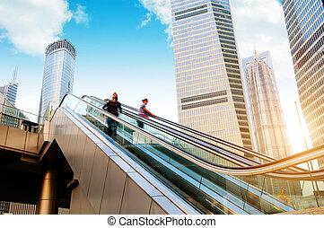 Shanghai street - China Shanghai Lujiazui financial...