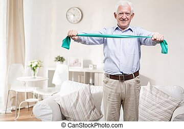 Exercise every day - Elder man needs to exercise every day