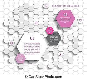 Hexagon infographic - Modern vector polygon infographic...