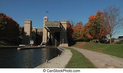 The Peterborough Lift Lock is a boat lift located on the...