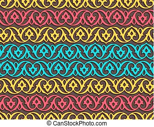Seamless pattern with floral ornament for wrapper
