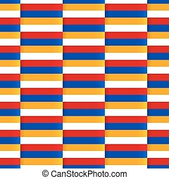 Seamless vector pattern with flag of Armenia - Seamless...