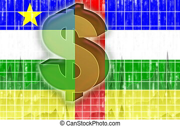 Flag of Central African Republic finance economy - Flag of...