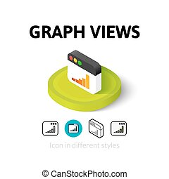 Graph views icon in different style