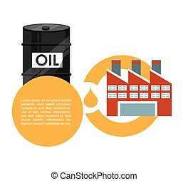 oil industry design, vector illustration eps10 graphic