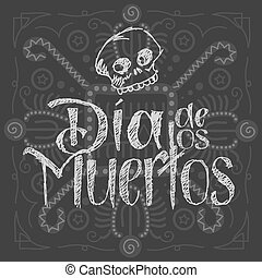 Dia de los muertos - Day of the Dead Vector Illustration...