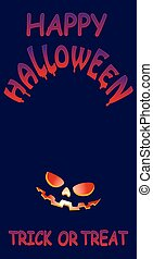 helloween -   halloween greeting card, vector illustration