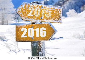 2015 -2016 on panel - two panels yellow mountain overlooking...