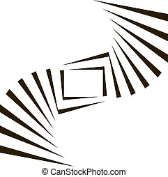 Geometric Vector Black and White Background. Architecture...