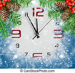 Countdown to New Year, abstract holidays backgrounds
