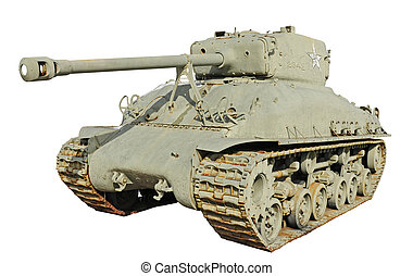 us army tank-T26 - old us army tank over the white...