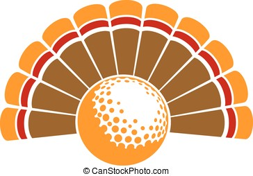 Thanksgiving Turkey Golf - A Thanksgiving turkey tail with...