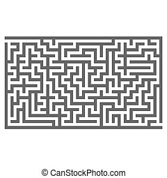 Labyrinth Isolated on White Background Kids Maze