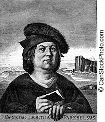 Paracelsus, Drawing Bocourt, after a painting of the Naney...