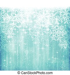 Abstract white blue Christmas, winter snowflake background