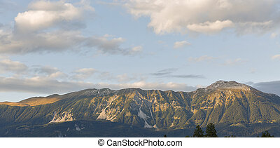 Alps in Bled, Slovenia - Alps mountains landscape in Bled,...