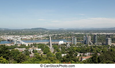 Time lapse aerial Portland - Time lapse aerial view of...