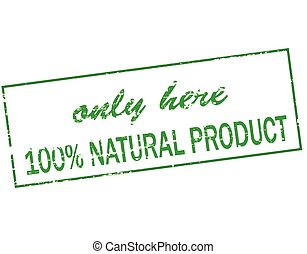 Natural product - Rubber stamp with text only here one...