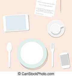Business lunch - Business lunch. Businessman on lunch in a...