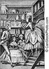 Glover perfumer or the eighteenth century, vintage...