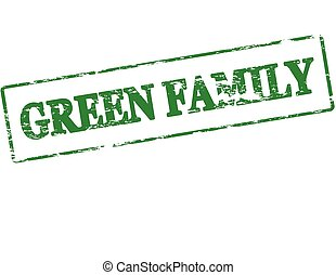 Green family - Rubber stamp with text green family inside,...