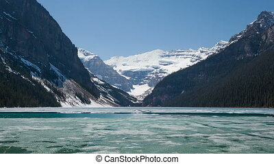 Time lapse zoom out Lake Louise - Time lapse zoom out of...