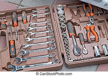 komplet, Od, Ręka, narzędzia, OMBRA,
