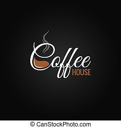 coffee cup logo design background
