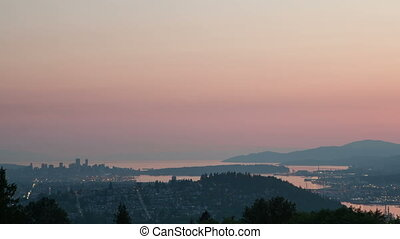 Time lapse Vancouver cityscape view - Time lapse view of...