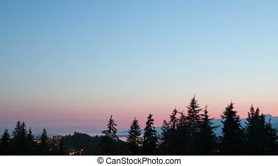 Timelapse Vancouver park view - Timelapse Sunset Vancouver...