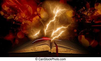 Årgång,  bokeh, bok, gammal, bakgrund