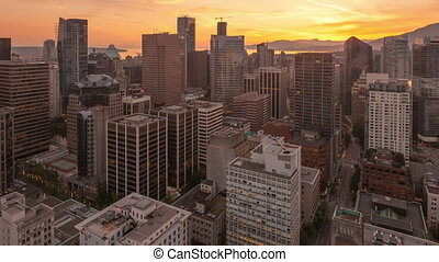 Time lapse close up Vancouver - Time lapse close up aerial...