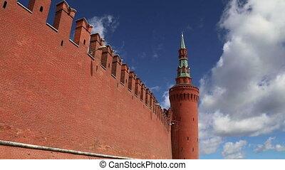 Kremlin Wall,Moscow Kremlin,Russia - Kremlin Wall that...