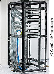 patch panel - cabinet with patch panel. empty slots RJ45