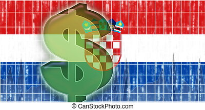 Flag of finance economy - Flag of Croatia, national country...