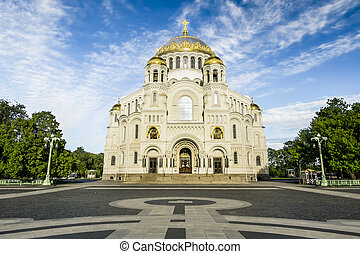 Naval Cathedral of St. Nicholas in Kronstadt,...