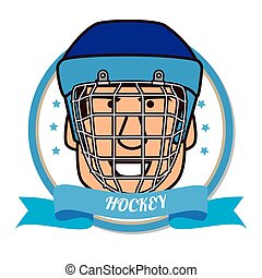 Hockey Sport design over white background, vector...