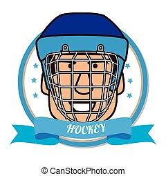 Hockey Sport design over white background, vector...