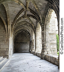 Narbonne France, cathedral cloister - Narbonne Aude,...