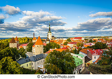 View of the Old Town, from Patkuli viewing platform on...