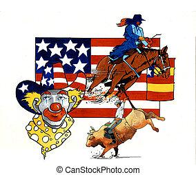 norteamericano,  rodeo, todos