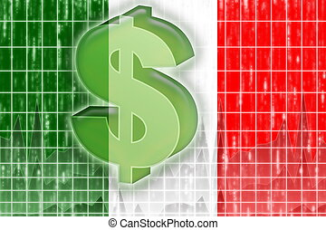 Flag of Italy finance economy - Flag of Italy, national...
