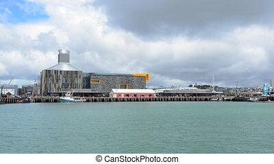 Wynyard Wharf in Auckland NZL - Wynyard Wharf against...