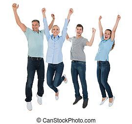 Group Of People Jumping
