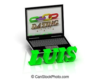 LUIS- Name and Family bright letters near Notebook and...