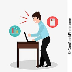 Office doubts design, vector illustration eps10
