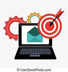 Digital marketing design. - Digital marketing design, vector...