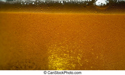 Game Beer Bubbles - Stream of beer being poured into a glass...