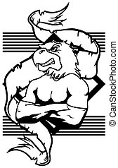 eagle mascot muscle crest shield tattoo in vector format
