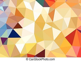 geometric abstract triangle background, vector